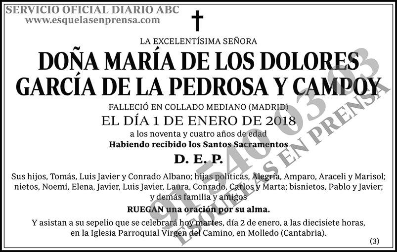 María de los Dolores García de la Pedrosa y Campoy